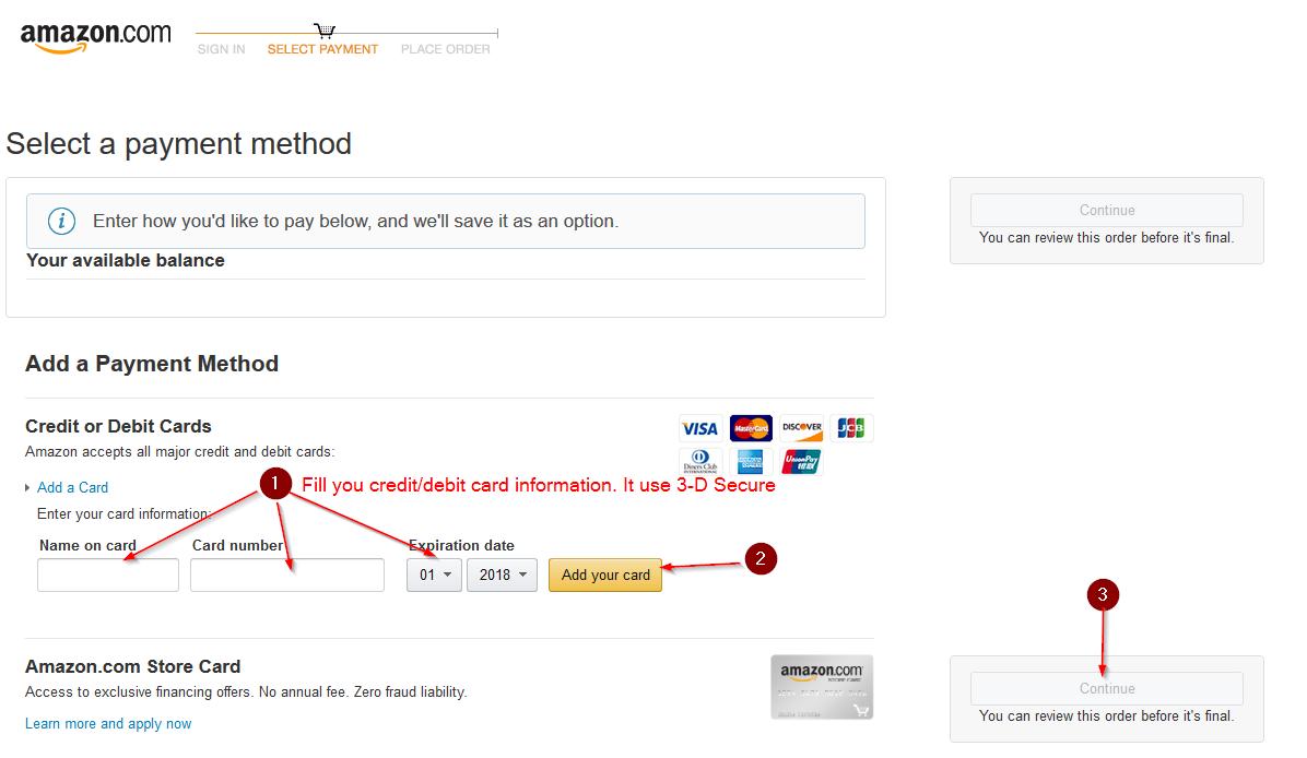 KeyOneClick Amazon add card